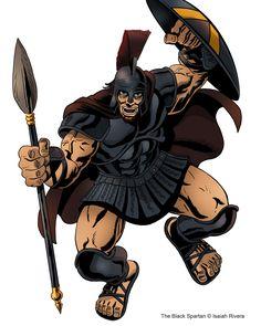 The Black Spartan: http://isaiahscomicbookuniverse.wordpress.com/the-black-spartan/