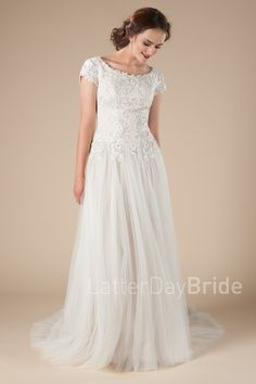 mormon wedding dresses with beaded dropped waist, Equestria at latter day bride Wedding Dresses For Older Women, Mormon Wedding Dresses, Modest Wedding Gowns, Elegant Wedding Dress, Lace Weddings, Modest Dresses, Bridal Dresses, Latter Day Bride, Wedding Bride