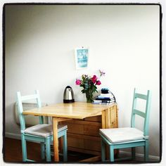 Painting cheap IKEA Ivar chairs { small space }