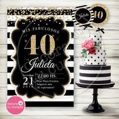 Happy 40th, Its My Bday, 40th Birthday, Birthday Invitations, Ideas Para, Fondant, Birthdays, Baby Shower, Cake Ideas