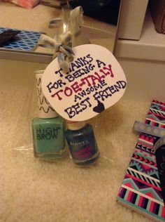 Another nails varnish pun gift for your BestFriends that they will love