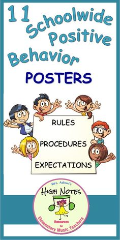 Positive Behavior Poster Set set based on 3 schoolwide rules: Be Respectful, Be Responsible, Be Safe. The posters address the POSITIVE behavioral expectations and how these rules would look in various areas around. Classroom Discipline, Classroom Management, Rules And Procedures, Cordless Drill Reviews, Positive Behavior, Classroom Inspiration, Best Budget, Music Education, Social Skills