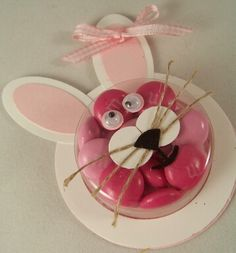 bunny using Sweet Treats cups and Stampin' Up! Punches