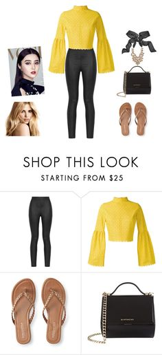 """""""Yellow1"""" by bravotamara on Polyvore featuring moda, Armani Jeans, Daizy Shely, Aéropostale, Givenchy y GUESS by Marciano"""