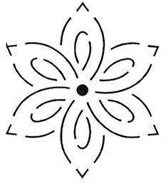 Quilt Stencil 4 '' Small Flower