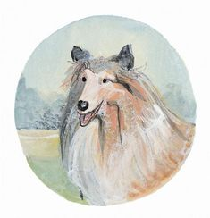 """P. BUCKLEY MOSS PRINT """" DOGS - COLLIE """""""