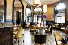Architect Joseph Dirand gives a long-standing Paris eatery a sophisticated makeover