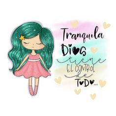 "3.780 Me gusta, 70 comentarios - 🎀 Tienda Expresión Social 🎀 (@arteconamor_lilydevia) en Instagram: ""Para quien esté pasando un momento difícil, este mensaje es para ti... tranquila ; DIOS SIEMPRE…"" God Loves Me, Jesus Loves, Spiritual Love, Inspirational Phrases, Kawaii Chibi, Beautiful Drawings, More Than Words, Dear God, God Is Good"