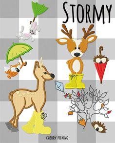 Stormy Stickdatei  - Huups! Stickdateien und Plotterdateien