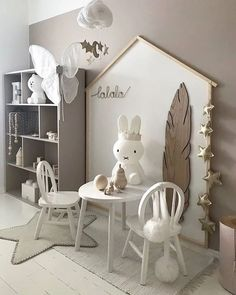 Love this gorgeous kid's play corner by Gold star garland and Cloud mobile are now back in stock . Love this gorgeous kid's play corner by Siv Lorgen Gold star garland and Cloud mobile are now back in stock . Baby Bedroom, Girls Bedroom, Bedroom Decor, Bedroom Ideas, Trendy Bedroom, Kids Play Corner, Playroom Decor, Playroom Ideas, Playroom Organization