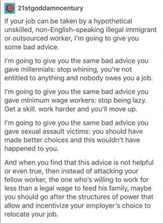 Fucking yes. I'd like one person to actually tell me how an illegal immigrant stole their job. I've never met one. They do the jobs no one wants to do, and they do it for less. As always, you're angry at the wrong fucking people.