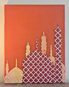 Mosque Skyline Canvas by JustPlainLiz on Etsy, $60.00