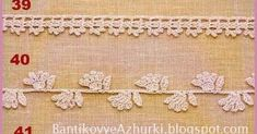 crochet edges Irish Lace, Crochet Clothes, Mittens, Elsa, Cross Stitch, Embroidery, Beads, Knitting, Crafts