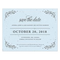 Seeds of Love Plantable Save The Date Card