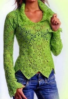 Free crochet patterns and video tutorials: Free crochet pullover sweater pattern symbol diagr...