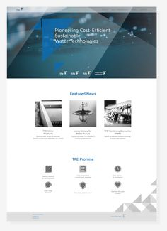 TFE Water Systems website - webdesign for innovative watertreatment company. Visit @ tfewater.com