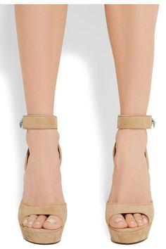 Givenchy - Shark Lock Suede Platform Sandals