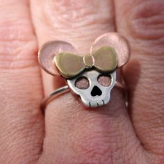 Goth Minnie Ring  Made to Order by thenay on Etsy, $45.00