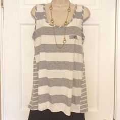 """Kenar tank top preowned size M runs big 1 size Tank top in good condition. One button is missing at the back, they are for decorative purposes only. Sold as is. Top runs big 1 size. Bust 19"""". Length 26.5"""". All measurements are approx. Kenar Tops Tank Tops"""