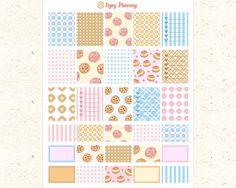 Cookies Printable Planner Stickers Cookies by EnjoyPlanning