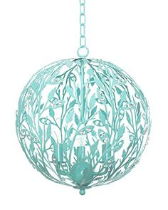 Luna Chandelier in Turquoise, 4 Light