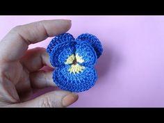 Cómo Tejer Crochet Pensamiento Pensamiento flor del ganchillo 71 - YouTube