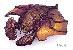 Starcraft 2 zerg unit . . . To begin with, I have to say I've no problem with the infestor at the moment, I just loved the defiler's look as well and thought I'd try to meld the two ...