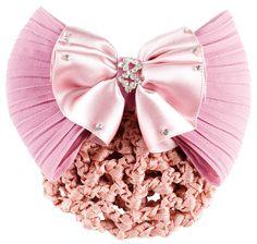 Hiusverkko ja rusetti, vaaleanpunainen - Viljar Shop verkkokaupasta