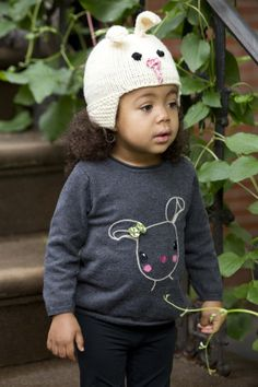 Get ready for spring with this adorable knit bunny hat made with LB Collection® Superwash Merino.