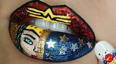 WONDER WOMAN LIP TUTORIAL | COMIC INSPIRED LIP ART | DARLENE ABREU