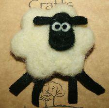 Sheep Brooch ~ Handmade Needle Felted Sheep Brooch