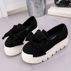 6ffd12fad8ab6 Autumn winter moccasin womens Fashion creepers shoes Bow women flats  loafers Ladies Slip On Platform 5CM