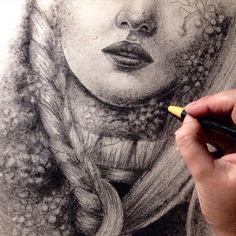Charcoal on handmade paper