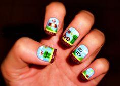 15 Fotos de uñas pintadas de Mario Bros | Decoración de Uñas - Manicura y Nail Art