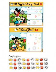 Mickey Mouse Invitation Invitations