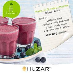 Kolejny przepis na orzeźwiający, wiosenny shake z miodem Huzar! #przepis #smoothie #shake #fit #wiosna #miód