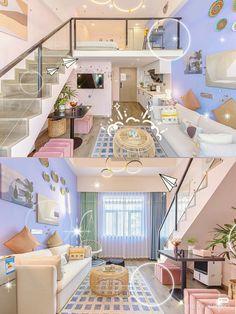 Room Design Bedroom, Room Ideas Bedroom, Home Room Design, Dream Home Design, Bedroom Decor, House Design, Study Room Decor, Cute Room Decor, 3d Home
