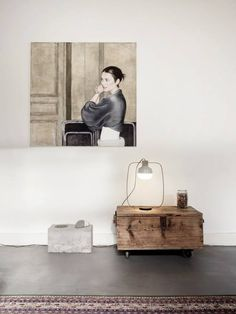 The New Old Table Light /  Tall / Dawn white / Frankfort