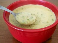 "Broccoli Cheese Soup in the Crock Pot from Food.com:   								This is a nice, creamy, comforting soup- and it's very easy to throw it all together in the crock pot. Add a sandwich or some dinner rolls, and you'll have a great dinner for cold nights! I made a few changes to a recipe taken from the ""Fix It and Forget It Cookbook"" to come up with this."