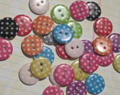 Polka Dot Buttons - Assorted Colors