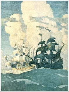 Mural in The First National Bank of Boston by N.C. Wyeth
