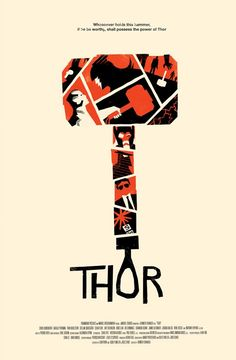 Thor (2011) ~ Minimal Movie Poster by Olly Moss #amusementphile
