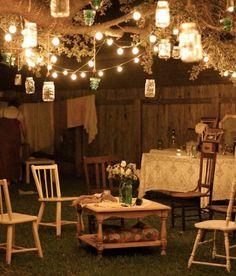 eclairage terrasse bois lanterne exterieur lumiere jardin idee luminaire pas cher spots led sol guirlande lanternes