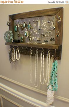 Build a Beautiful DIY Jewelry Organizer for less than 20 Diy