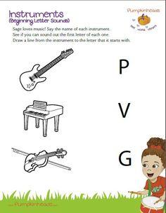 English worksheet: Musical Instruments | Music Vocabulary ...
