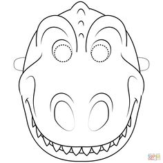 Dinosaur Mask coloring page | Free Printable Coloring Pages