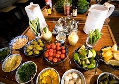 A DIY Bloody Mary bar. They provide you with a glass of vodka and you proceed to add as much tomato juice, lemon juice, coriander, grated ginger, piccalilli, caper berries, celery salt, Chinese black vinegar, Sriracha, Worcestershire sauce, pink peppercorns, and star anise as you can pile into your glass.