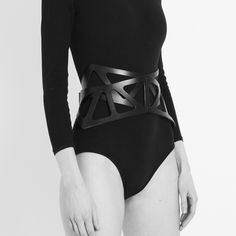 Large Cut Out Point Corset Belt by Fleet Ilya (this is awesome)