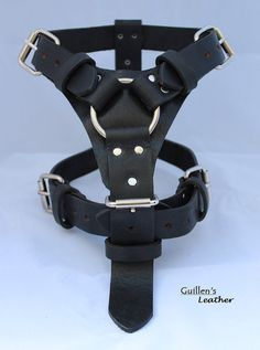 Black Large Leather Dog Harness with a Ring by guillensleather, $45.00 gona need this in a few months