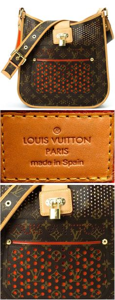 Vintage Louis Vuitton Leather Musette // Limited Edition